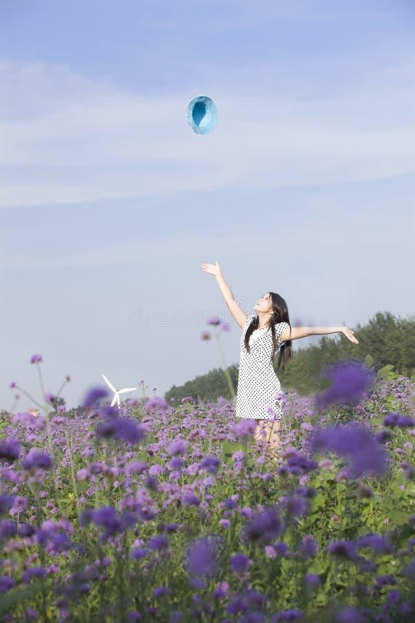 dopingu kwiatu dziewczyna zdjęcie stock