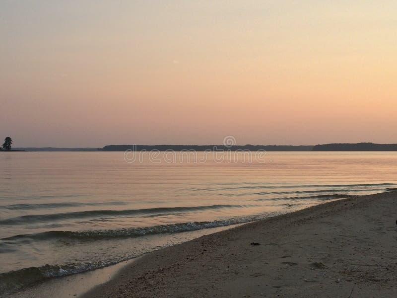 Dopo i colori di tramonto fotografia stock libera da diritti