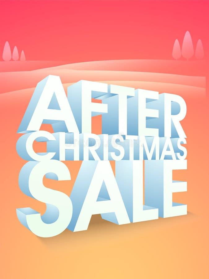 Dopo il manifesto, l'insegna o l'aletta di filatoio di vendita di Natale royalty illustrazione gratis