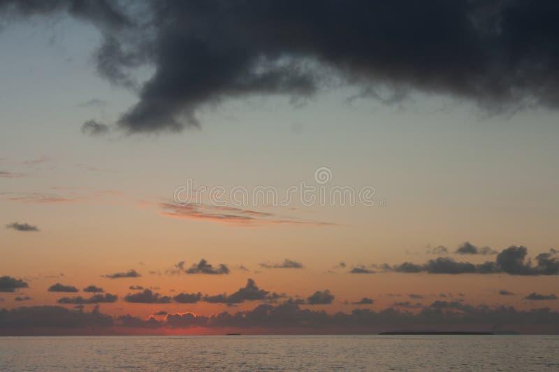 Dopo il tramonto nel Tonga fotografia stock libera da diritti