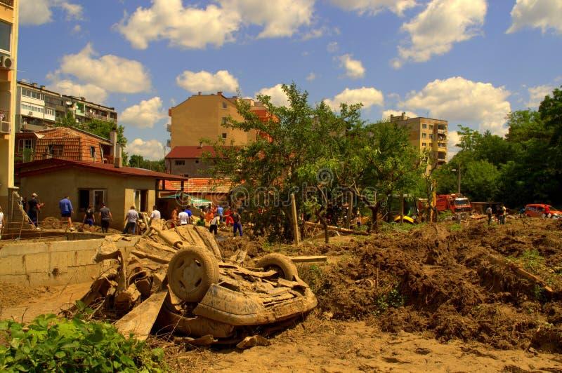 Dopo l'inondazione della Bulgaria, Varna fotografie stock libere da diritti