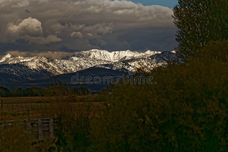 Dopo la tempesta - grande parco nazionale di Teton fotografia stock