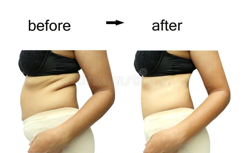 Dopo una dieta fotografia stock