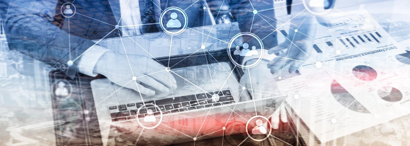 Doppelbelichtungsleute-Netzstruktur Stunde - Personalwesen Management und Einstellungskonzept stockbilder