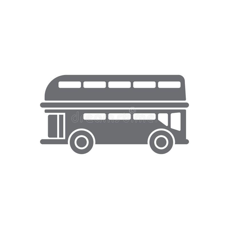 Doppeldeckerikone Einfache Elementillustration Doppeldeckersymboldesign vom Transportsammlungssatz Kann für das Netz verwendet we vektor abbildung