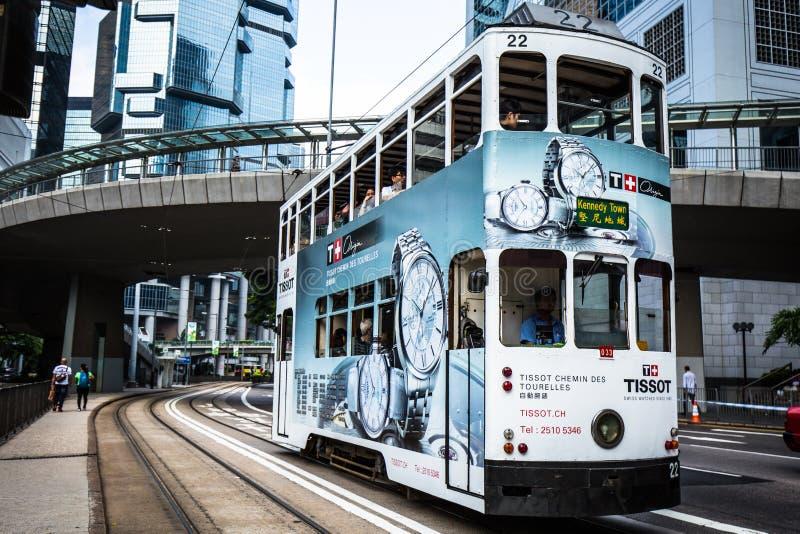 Doppeldeckerstraßenbahn lizenzfreies stockfoto