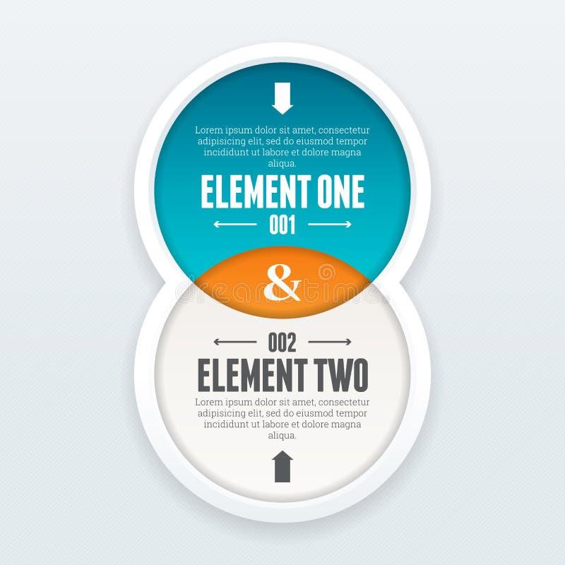 Doppelelement Infographic lizenzfreie abbildung