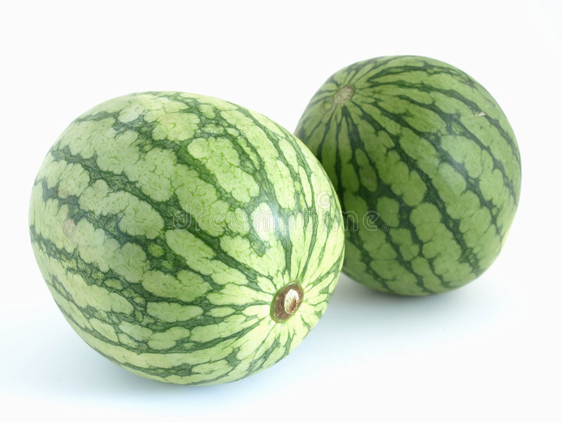 Doppelmelonen lizenzfreie stockfotos