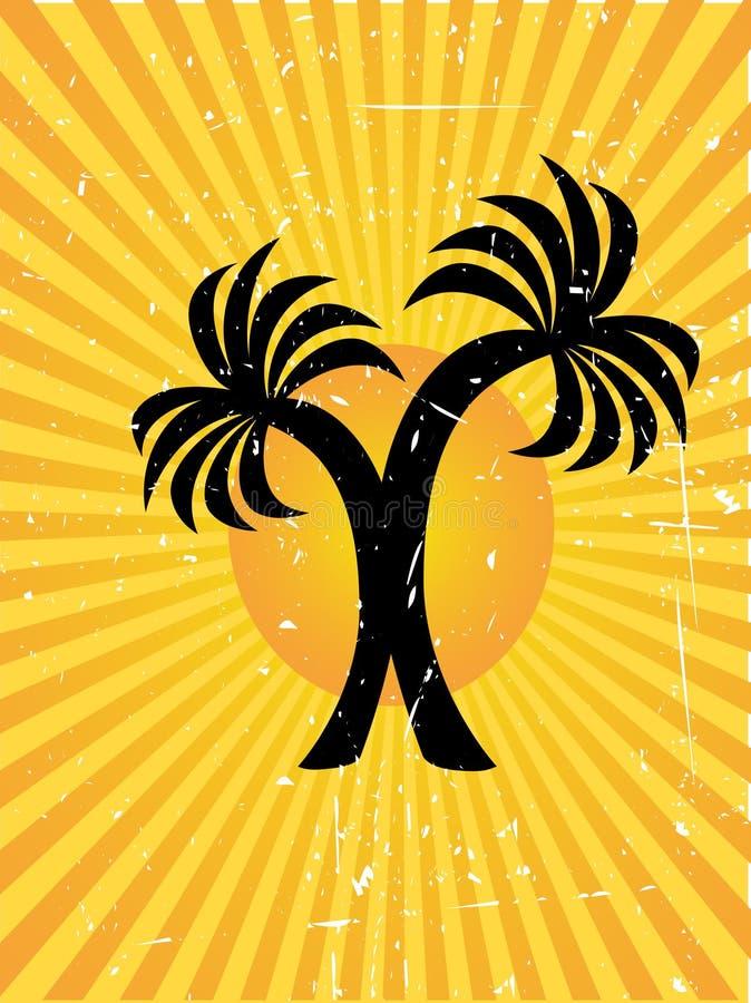 Doppelplam Baum-vektorhintergrund stock abbildung