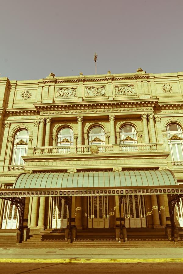 Doppelpunkt-Theater, Buenos Aires, Argentinien Weinlese und vergangenes Jahr e stockbild
