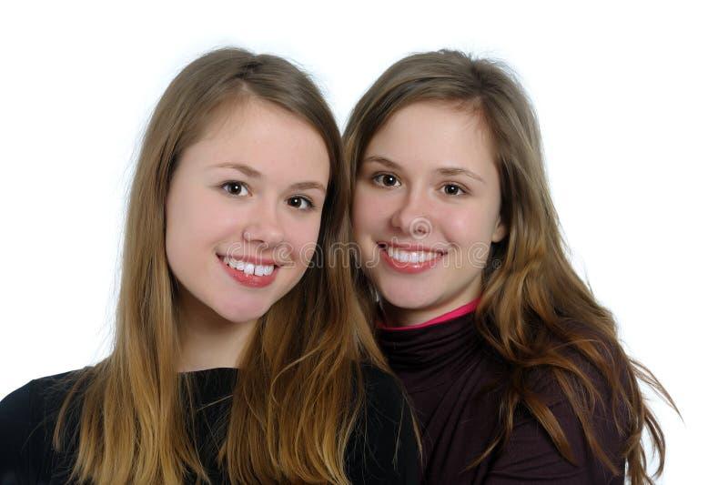 Doppelschwestern lizenzfreie stockbilder