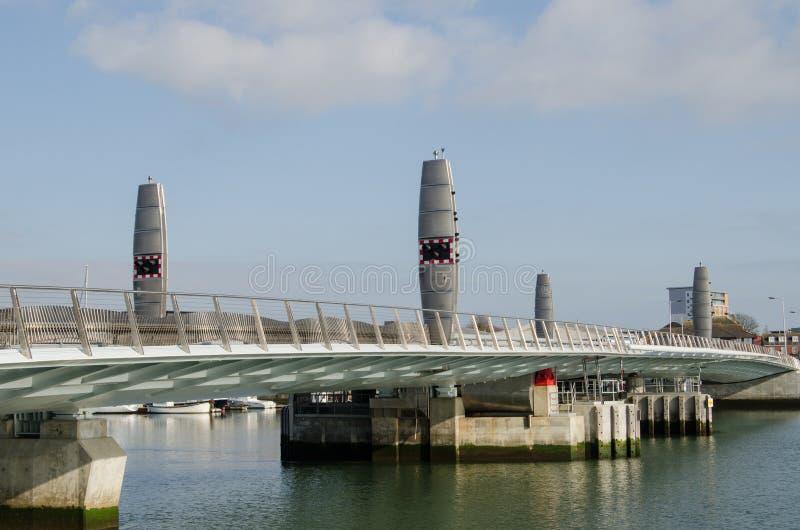 Doppelsegel-Brücke, Poole Stockfotografie