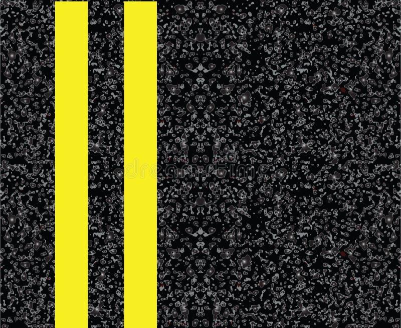 Doppelte gelbe Mittellinie lizenzfreie abbildung