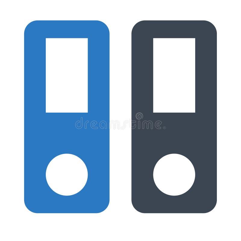 Doppelte Ikone Archiv Glyphs Farb vektor abbildung