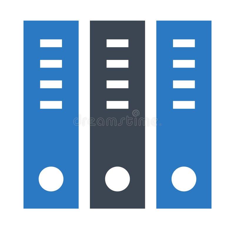 Doppelte Ikone Archiv Glyphs Farb lizenzfreie abbildung