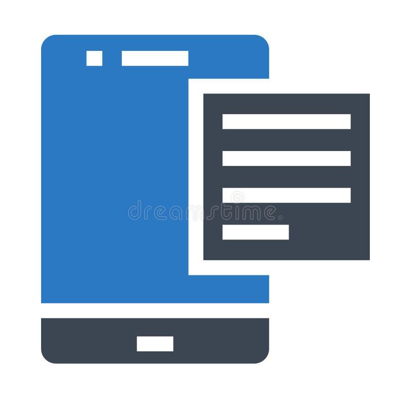 Doppelte Ikone beweglicher Text Glyphs Farb lizenzfreie abbildung