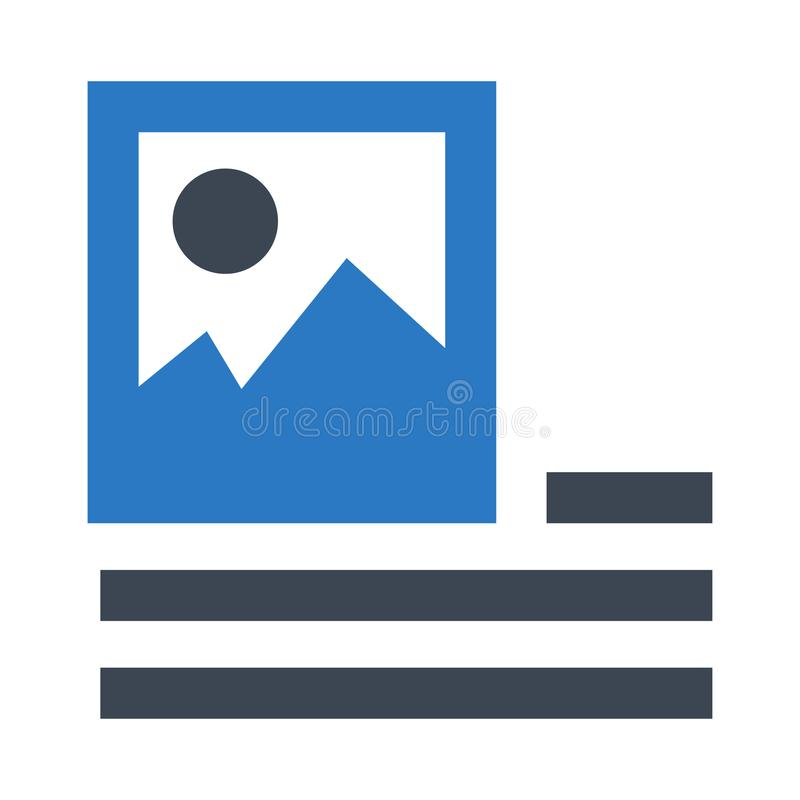 Doppelte Ikone Bild-Ausrichtung Glyphs Farb vektor abbildung