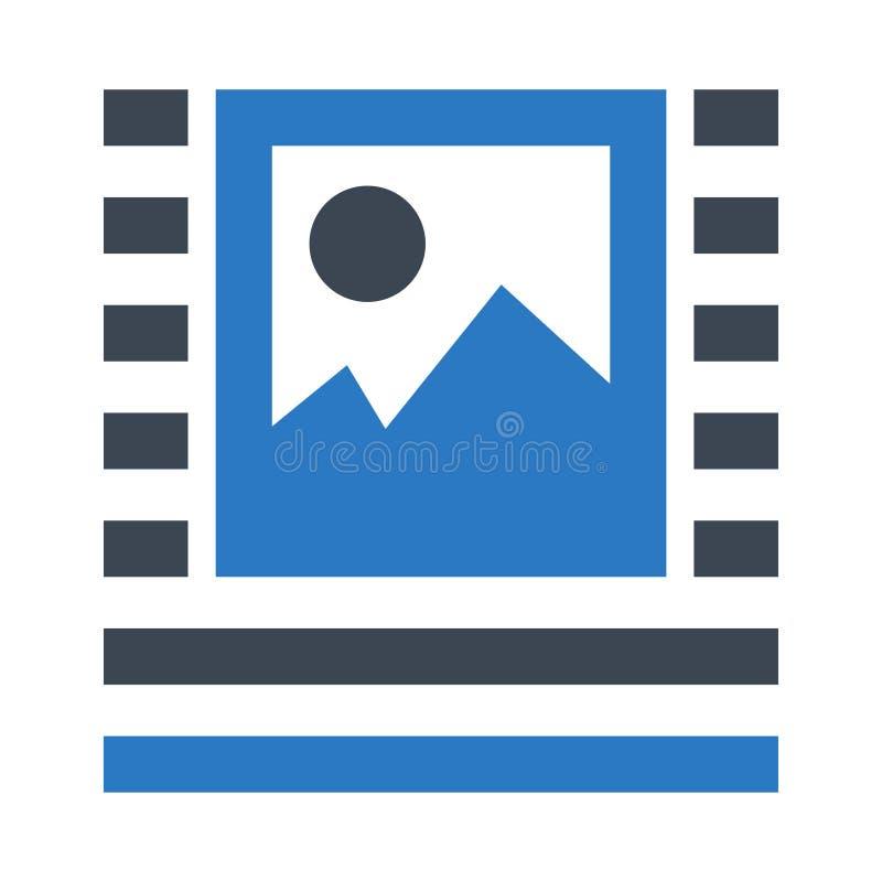 Doppelte Ikone Bild-Ausrichtung Glyphs Farb lizenzfreie abbildung