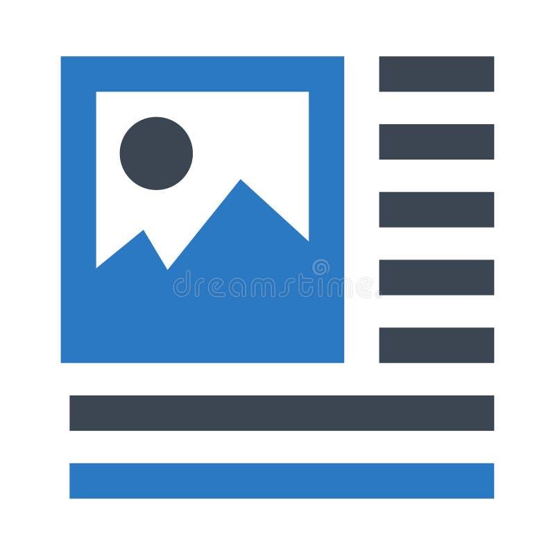 Doppelte Ikone Bild-Ausrichtung Glyphs Farb stock abbildung