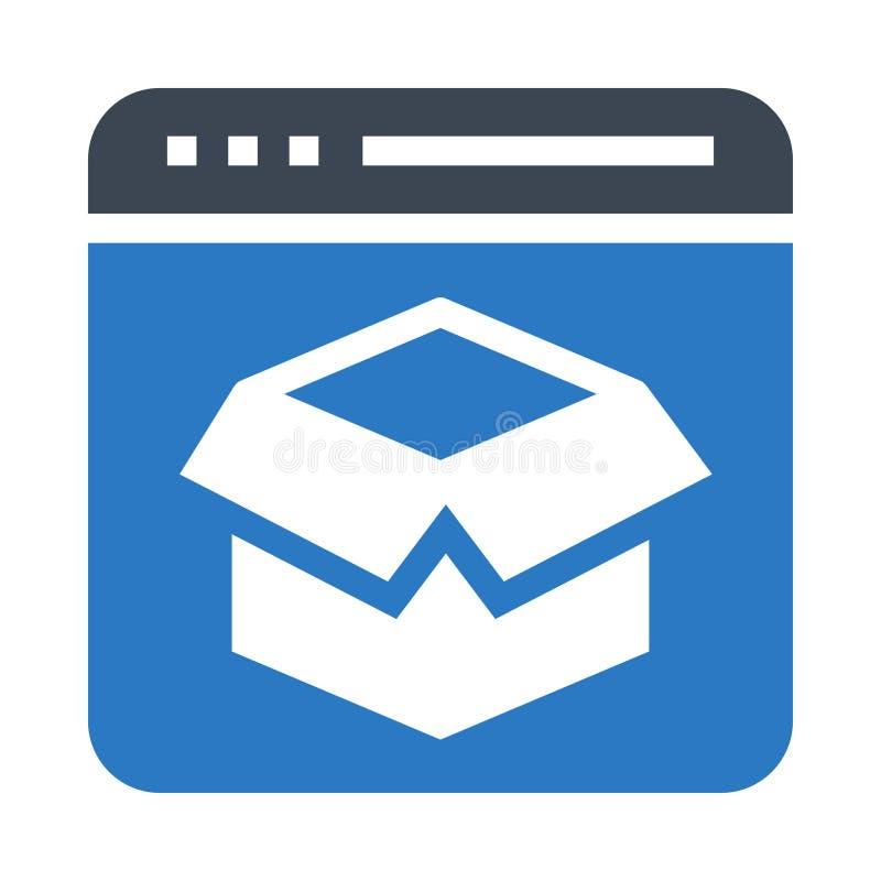 Doppelte Ikone Browserpaket Glyphs Farb vektor abbildung