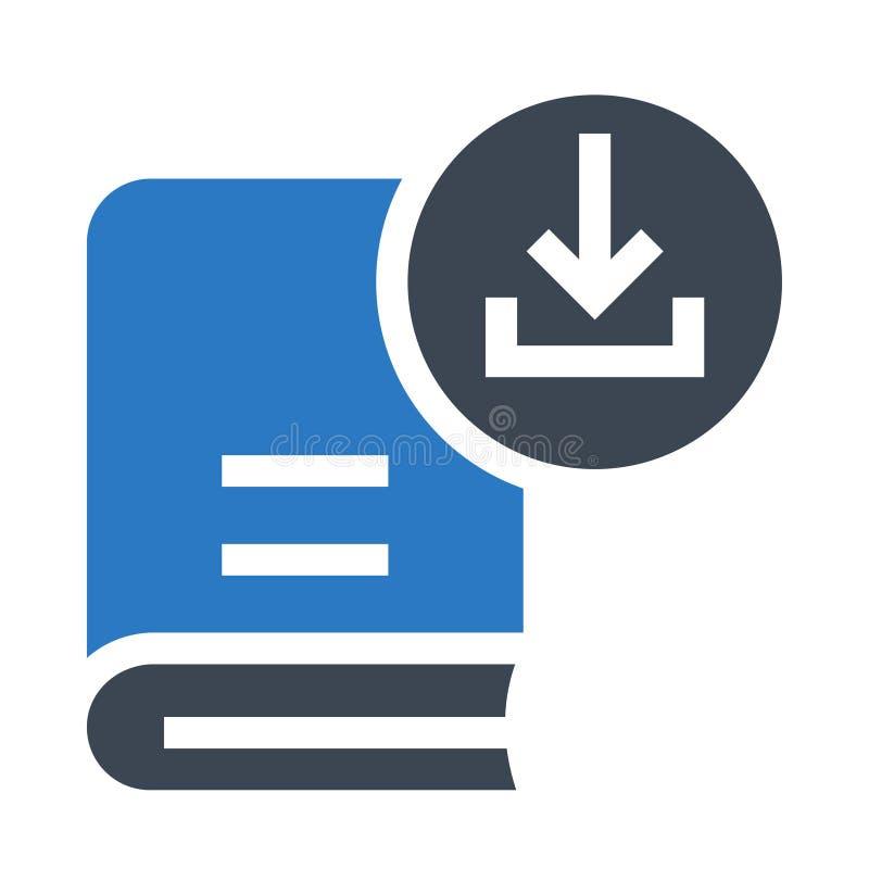 Doppelte Ikone Buchdownload Glyphs Farb lizenzfreie abbildung