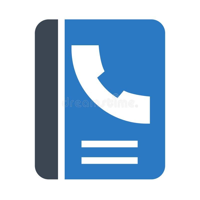 Doppelte Ikone Telefon-Buch Glyphs Farb vektor abbildung