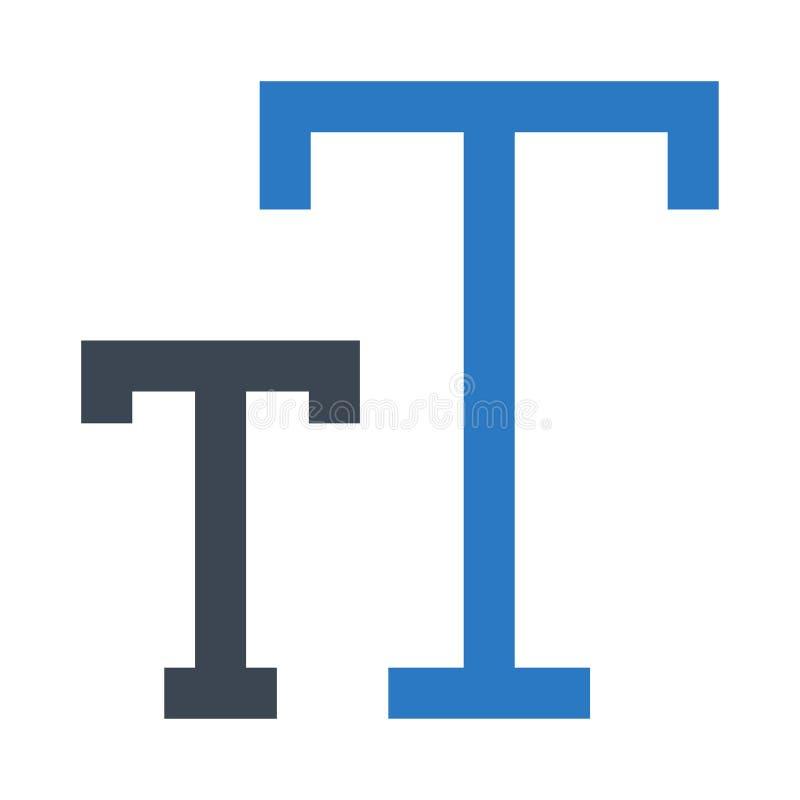 Doppelte Ikone Textgröße Glyphs Farb stock abbildung