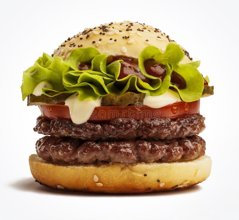Doppelter Burger stockfoto