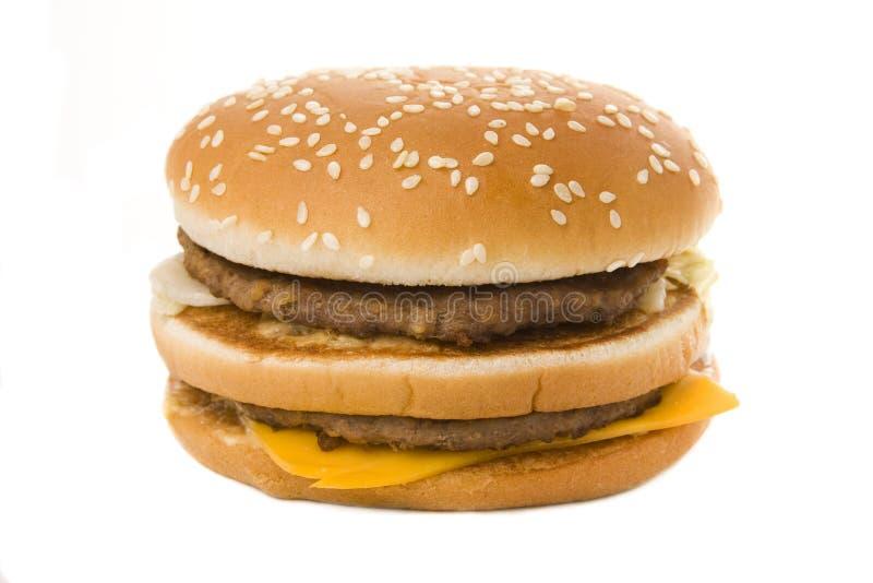 Doppelter Cheeseburger stockbilder