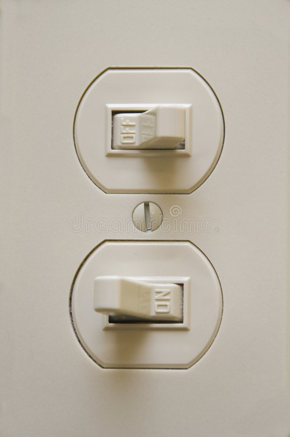 Doppelter geringfügiger Schalter - AN/AUS lizenzfreies stockbild