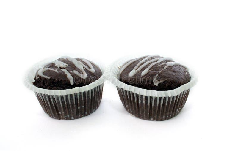 Doppelter Schokoladenkuchen lizenzfreies stockbild