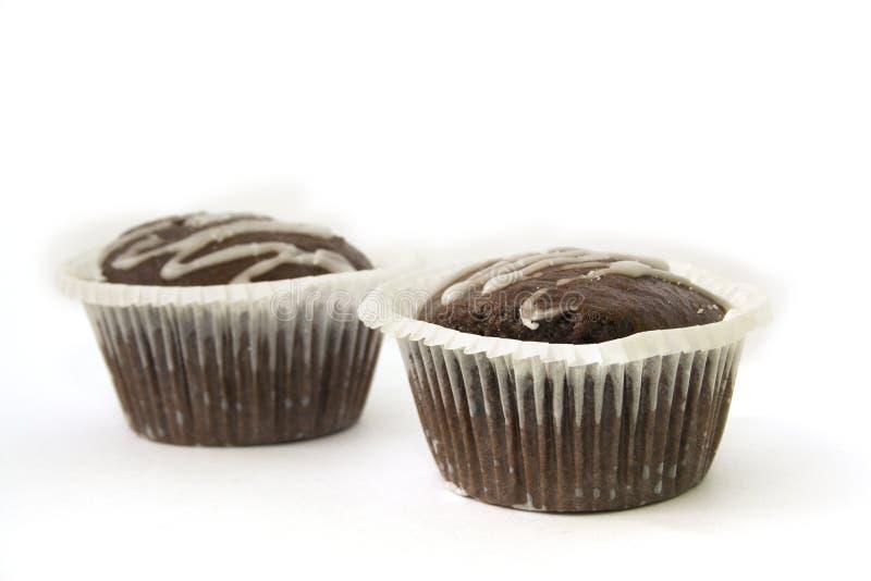 Doppelter Schokoladenkuchen stockbilder