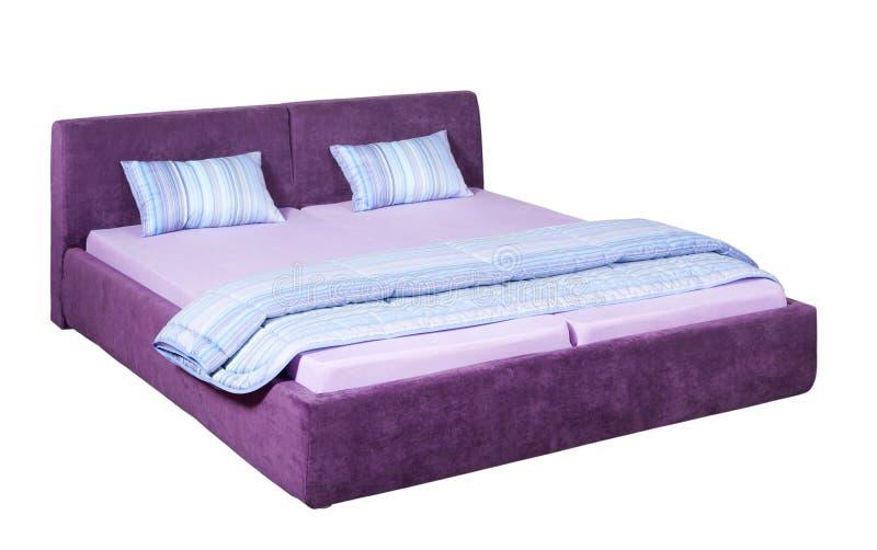 Doppeltes Bett lizenzfreie stockbilder