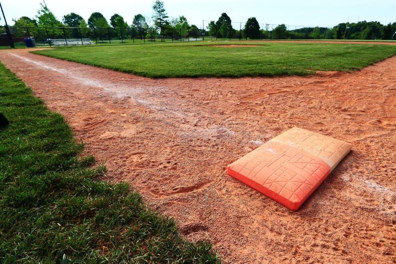 Doppeltes Feld der ersten Base stockbild