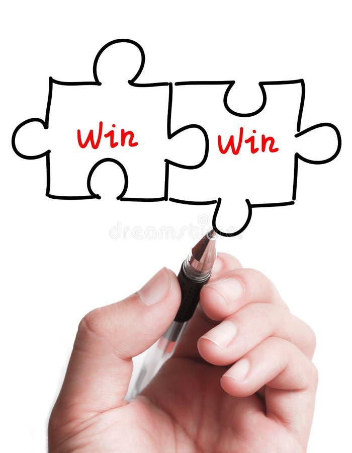 Doppeltes Gewinn-Puzzlespiel-Konzept lizenzfreies stockfoto