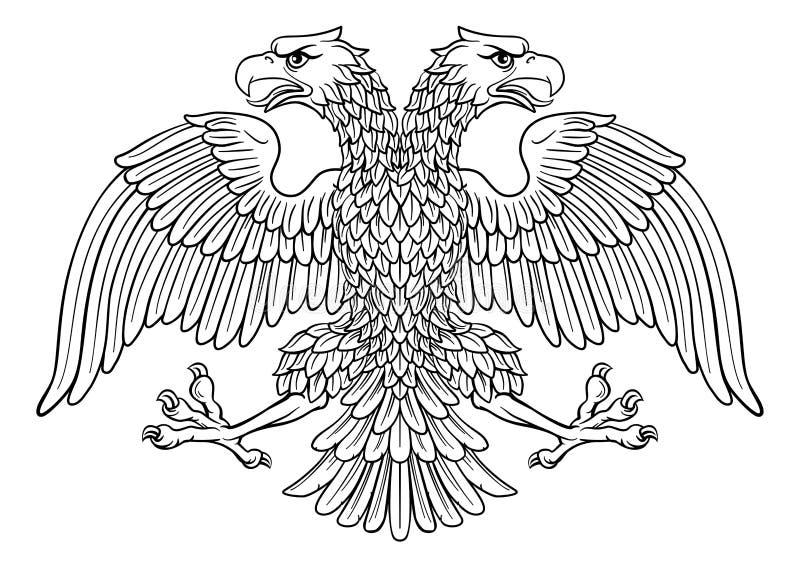 Doppeltes ging Kaiser-Eagle mit zwei Köpfen voran lizenzfreie abbildung