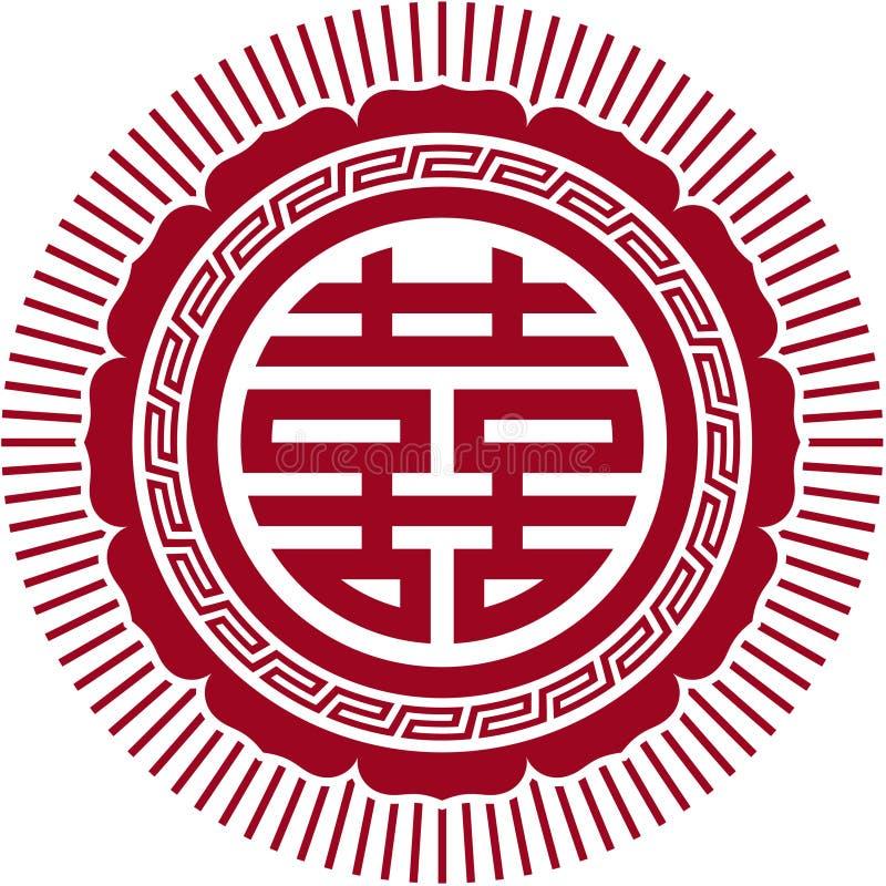 Doppeltes Glück-Symbol stock abbildung