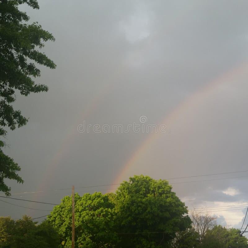 Doppeltes Regenbogen-Doppeltes die Liebe stockbilder