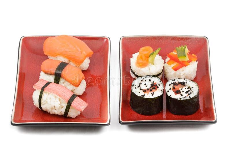 Doppeltes Sushi kir lizenzfreie stockfotografie