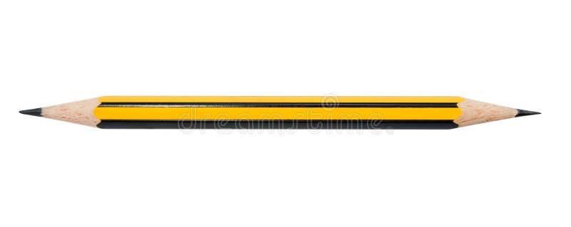 Doppeltes versah Bleistift mit Seiten stockfotografie