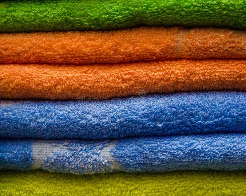 Doppi asciugamani fotografie stock