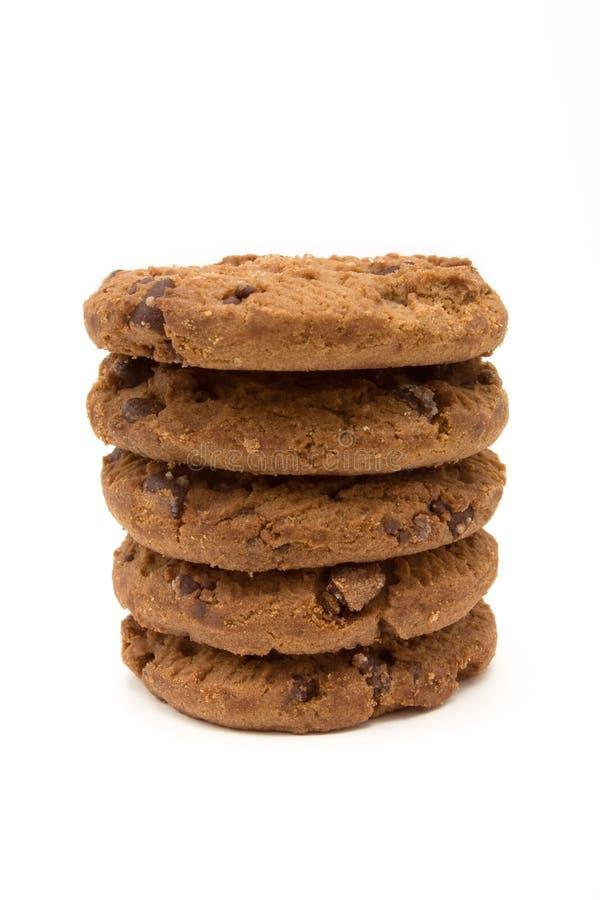 Doppi biscotti del chip di Choc fotografie stock libere da diritti