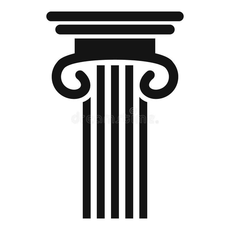 Doppia icona colonnata della colonna, stile semplice illustrazione di stock