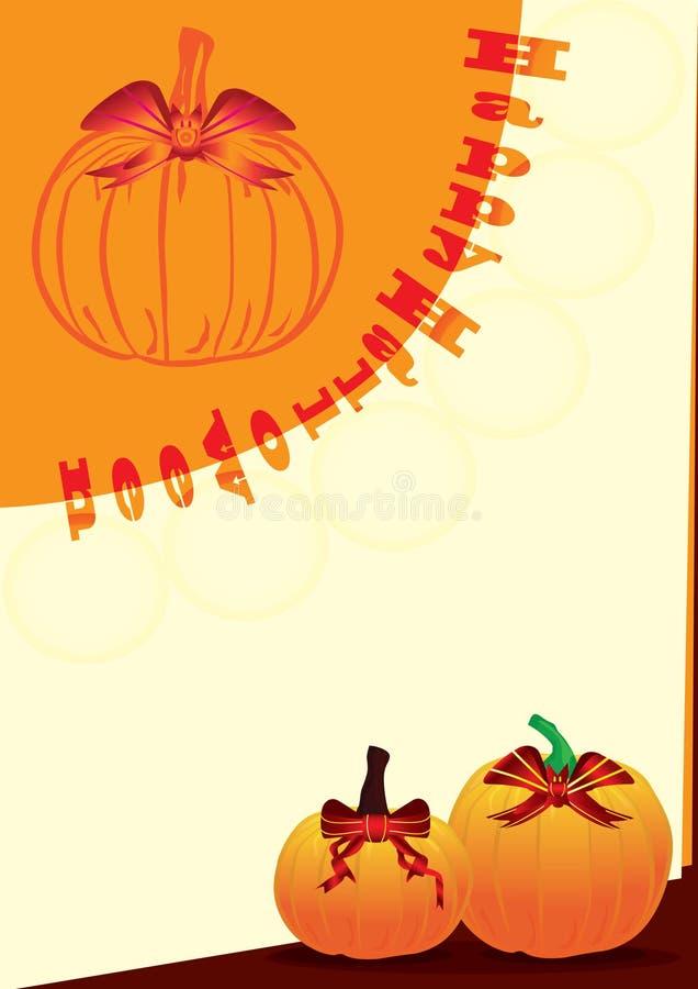 Doppia scheda di Halloween illustrazione di stock