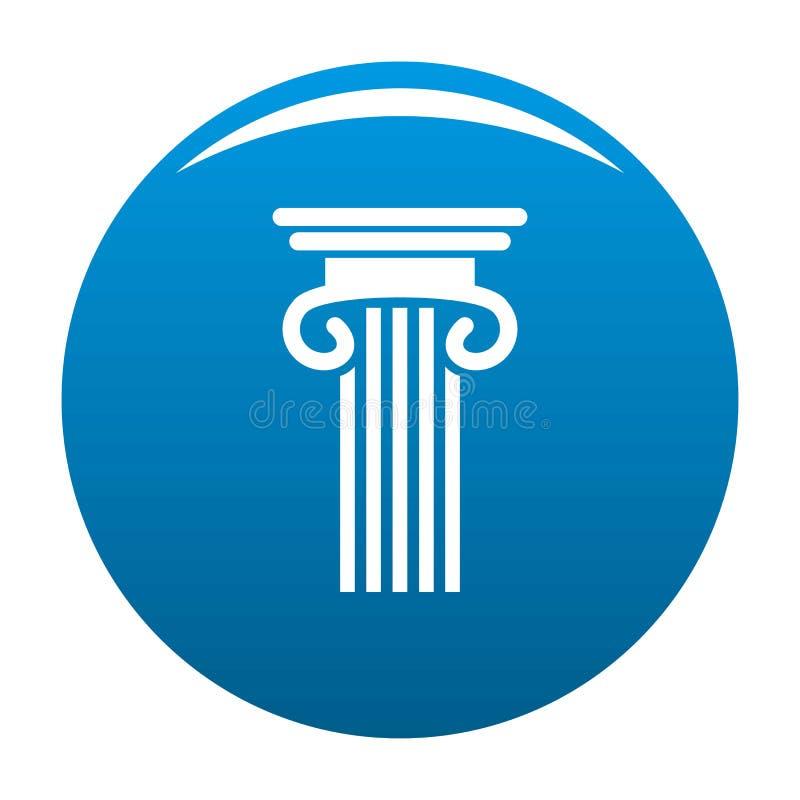 Doppio blu colonnato dell'icona della colonna royalty illustrazione gratis