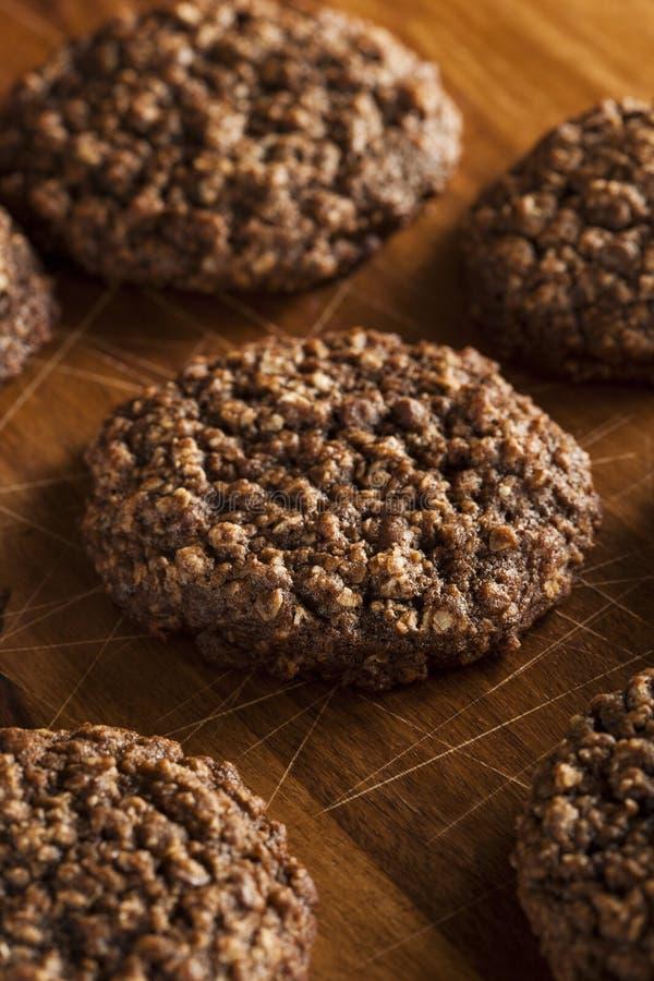 Doppio cioccolato Chip Oatmeal Cookies fotografie stock