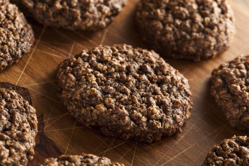 Doppio cioccolato Chip Oatmeal Cookies immagini stock libere da diritti