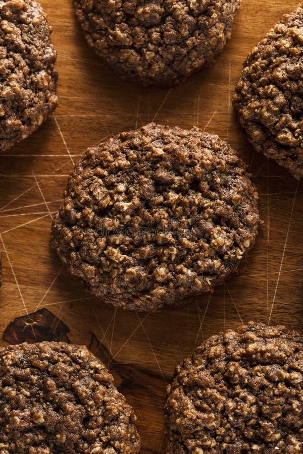 Doppio cioccolato Chip Oatmeal Cookies fotografie stock libere da diritti