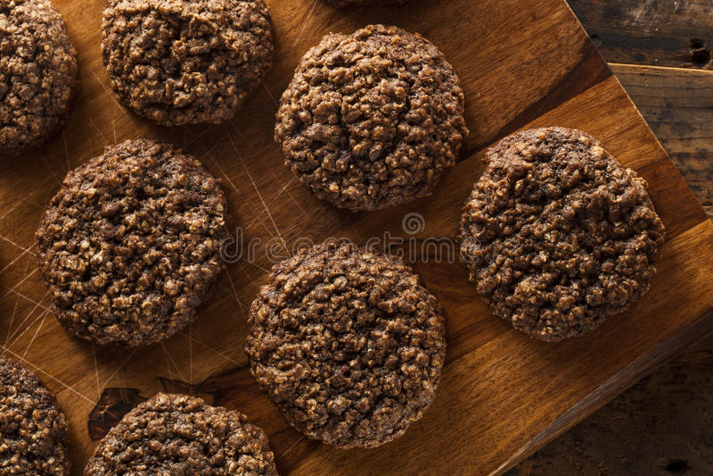 Doppio cioccolato Chip Oatmeal Cookies immagine stock