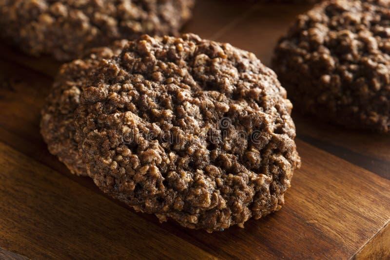 Doppio cioccolato Chip Oatmeal Cookies immagini stock